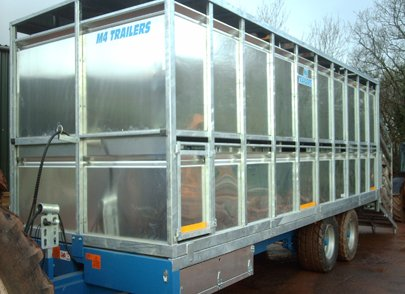 cattle trailer side view