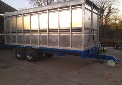 metal cattle trailer