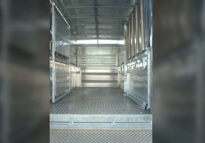 cattle trailer inside view