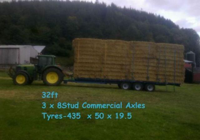 tractors hay bales